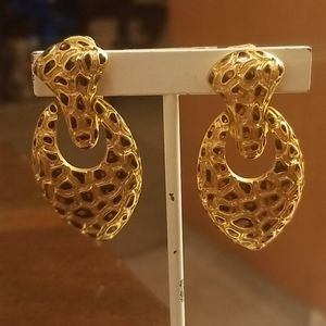 "Vintage designer ""craft"" clip on earrings PM 70A"